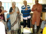 Inmates of Old Age Home Vishranthi in Bangalore Supporting Eye Donation
