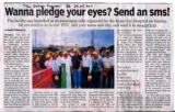 A write up about SMS PLEDGING - Indian express